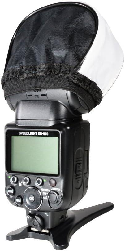 Pentax AF-360FGZII Panasonic DMW-FL360L Olympus FL-600R SB-910,Canon 580EX II SB-800 Foto/&Tech Soft Mini Flash Bounce Diffuser Cap Compatible with Speedlight Nikon SB-900 600EX-RT,430EX II