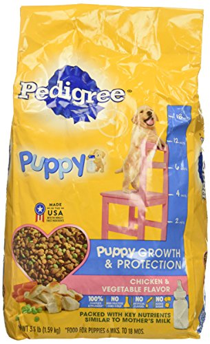 PEDIGREE Puppy Growth & Protection Chicken & Vegetable Flavor Dry Dog Food 3.5 Pounds Healthy Growth Puppy Food