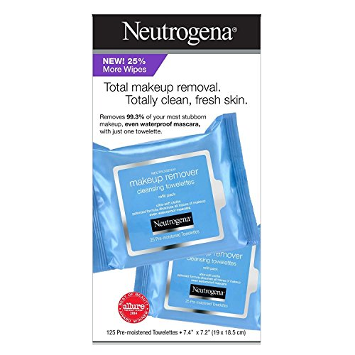 Neutrogena Makeup Remover Cleansing Towelettes, Refill Pack, 25 Count (Pack of 5)