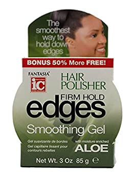 Fantasia iC Hair Polisher Firm Hold Edges Smoothing Gel with Moisture Enriched Aloe