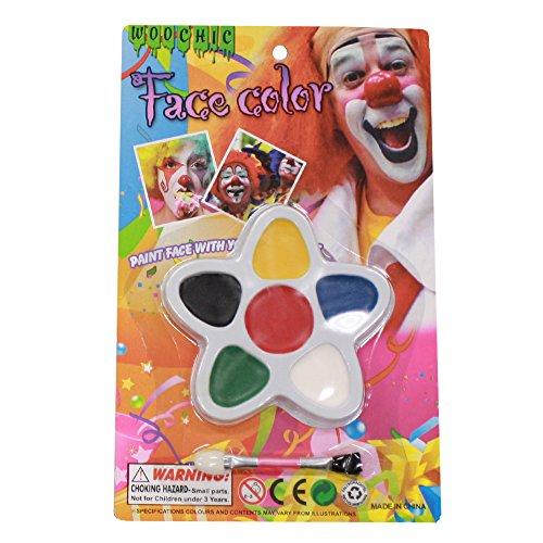 PATYMO -- Clown Makeup Kit (Halloween Costume Accessory) ()