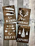 Rrustic nursery décor, Woodland theme nursery, Nursery signs, Deer antler décor, Arrow decor Review