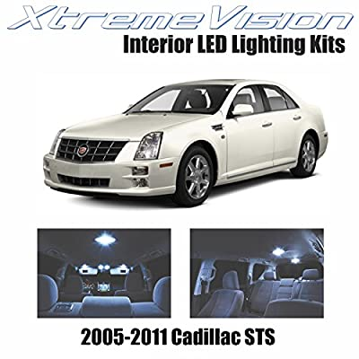 XtremeVision Interior LED for Cadillac STS 2005-2010 (12 Pieces) Cool White Interior LED Kit + Installation Tool: Automotive