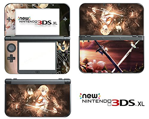 Vanknight-Vinyl-Decals-Skin-Sticker-Anime-Sword-Art-Online-Kirito-SAO-for-the-New-Nintendo-3DS-XL-2015
