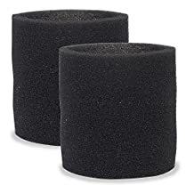 Multi-Fit VF2001TP Foam Sleeve Filter for Wet Dry Shop Vacuum, 2-Pack - Fits Most Shop-Vac & More
