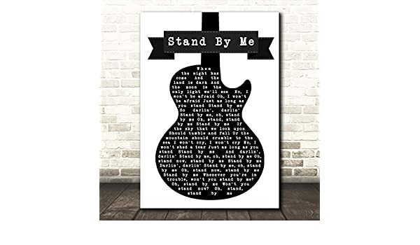 Ben E King Stand by Me - Letra de canción para guitarra, color ...