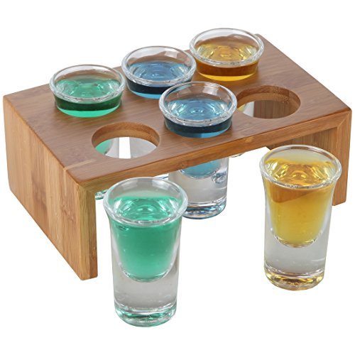Bamboo Crystal Glasses Bartender Display product image