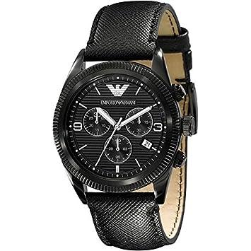 Emporio Armani schwarzer Herrenchronograph
