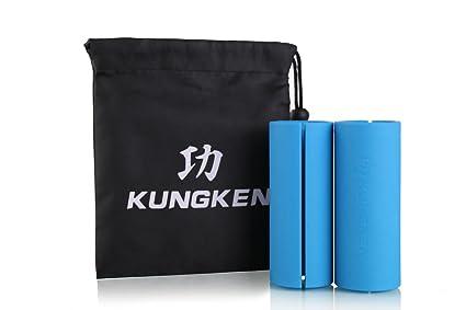 kungken Fitness agarre Bar brazo músculo constructor mancuerna y barra de pesas de grosor 1 par