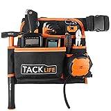 TACKLIFE 6-Pocket Professional Tool Belt, Three Layer Waterproof Fabric, Fluorescent Strips For Night Work, Technician's Tool Holder Work Organizer - PTB01