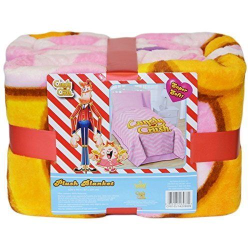 Jfranco King Candy Crush Plush Blanket: 62in x 90in ()