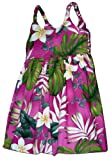 Pacific Legend Girls Frangipani Monstera Fern Toddler Bungee Dress Pink 5-6 for 3 yrs old