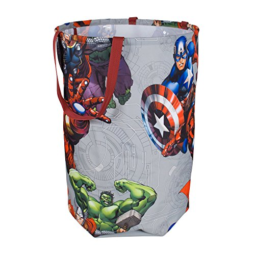 Avengers Collapsible Kids Laundry Hamper by Marvel - Pop Up Portable Children's Clothes Basket for Closet, Bedroom, Boys & Girls Clothes - Foldable Laundry Bin with Strong Handles & -
