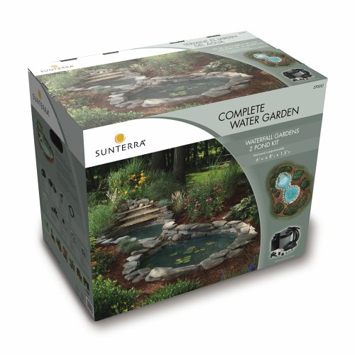 Amazon.com : Sunterra 370012 Sunterra Waterfall Gardens Complete Pond Kit,  Two Ponds With Waterfall : Garden U0026 Outdoor