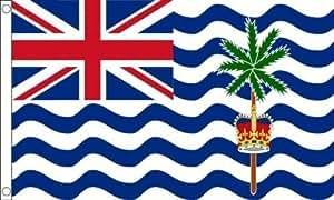 Indian Océano Territorios 5ft x3ft (150cm x 90cm) 100% Poliéster Bandera 2 ojales + 59mm Botón Insignia