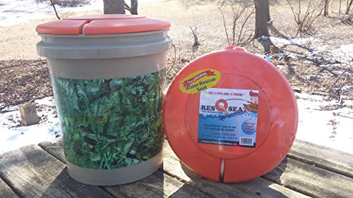 ResQseat Life Ring by Waterlogged Outdoors | Life Preserver Ring, Bucket Toilet Seat, Bucket Seat, Bucket Lid, Fishing Equipment + Tested and Proven + Fits as a 5gal Bucket Lid by Waterlogged Outdoors LLC (Image #1)