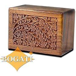 Tree of Life Hand-Carved Rosewood Urn Box - Medium