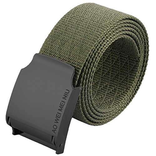 moonsix Nylon Web Belts for Men,Solid Color Military Style 1.5