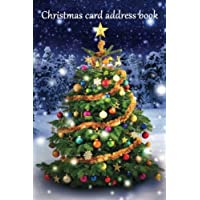 Christmas card address book: An address book and tracker for the Christmas cards you send and receive - Christmas tree cover