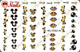 steelers game Pittsburgh Steelers Mickey Waterslide nail decals (Tattoos) V2 (Set of 49)