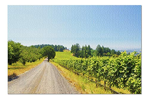 (Oregon - Vineyard - Photography A-94411 (20x30 Premium 1000 Piece Jigsaw Puzzle, Made in USA!))