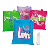 Christian Religious Tote Bags (12 Pack)