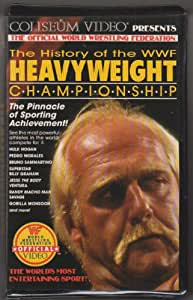 history of the wwf heavyweight championship vhs hulk hogan movies tv. Black Bedroom Furniture Sets. Home Design Ideas