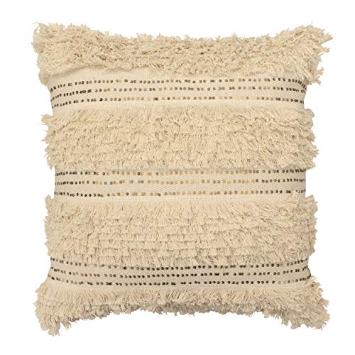French Connection Nepal Throw Pillow, 22 x 22, Natural