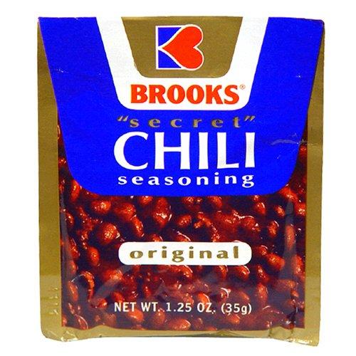 Brooks Secret Chili Seasoning, Original, 1.25 Ounce (Pack of 24)