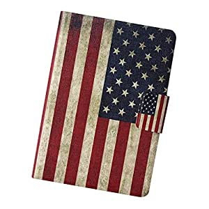 Fabcov Packing Retro American Flag Slim Flip Leather Case Cover For Amazon Kindle Paperwhite