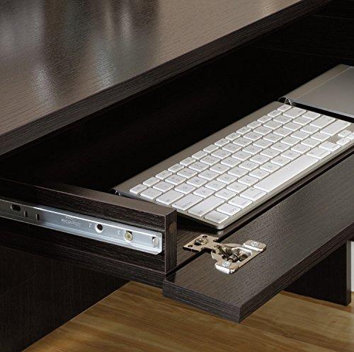 Sauder Avenue Eight L Shaped Desk in Wind Oak