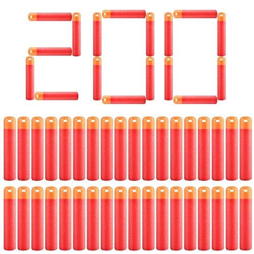 POKONBOY Darts Compatible Nerf Mega Darts - 200 Pack Mega Darts Compatible for N-Strike Mega Series Red Mega Dart