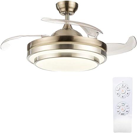 YX Ceiling Fans Luz de ventilador de techo, lámpara LED regulable ...