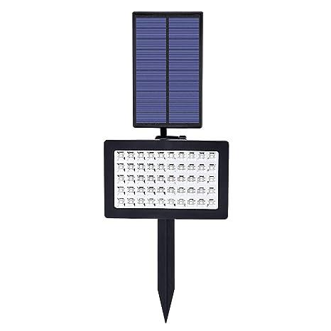 Proyector LED Exterior Solar, 50 LED lámpara solar exterior, 2 en 1 impermeable con energía solar Jardín luz iluminación de seguridad para jardín, ...