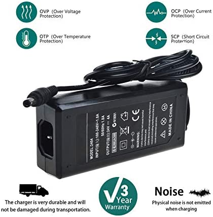 SLLEA AC Adapter for Zebra ZXP Series 3 III Z32-0M000000US00 Z32-0M000200US00 Z32-0M0C0200US00 Z32-0MAC0200US00 Z32-AM000200US00 ID Card Thermal Printer DC Power Supply Cord Charger Mains PSU
