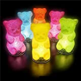 "Rhode Island Novelty Elgumla 10"" Sparkle Gummy Bear Lamp"