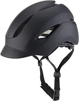 BASE CAMP Casco Bicicleta con Luz Trasera LED de Seguridad para ...