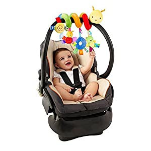 AZX Baby Stroller Toy Spiral Activity Bed Cot Crib Hanging Rattle Toy Car Seat Pushchair Pram Toy For Infant Newborn…