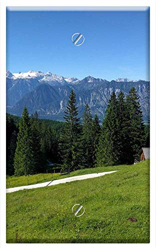 Single-Gang Blank Wall Plate Cover - Alm Hiking Alpine Meadow Mountains Nature