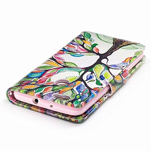 Yiizy Huawei Nova Custodia Cover, Alberi Colorati Design Sottile Flip Portafoglio PU Pelle Cuoio Copertura Shell Case Slot Schede Cavalletto Stile Libro Bumper Protettivo Borsa