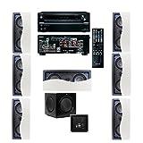 Klipsch R-2502-W II In-Wall Speaker (LCR) 7.1 Onkyo TX-NR636 7.2 Channel Network A/V