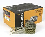 BOSTITCH C10S120DG Thickcoat Round Head 3-Inch by .120-Inch by 15 Degree Wire Collated Screw Shank Coil Framing Nail (2,700 per Box)