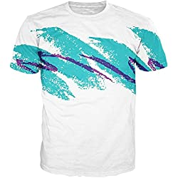 RAISEVERN Unisex 90s Jazz Cup Short Sleeve Stylish T shirts Clothes Apparel, Graffiti, XXL