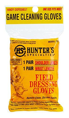 Hunters Specialties Deluxe Field Dressing Gloves, 2-Pack