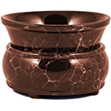 Marble Finish Ceramic Electric Jar and Tart Warmer (Marble Brown)
