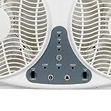 JPOWER 9 Inch Twin Window Fan, 3-Speed Reversible