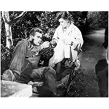 James Dean Sharing a Smoke with Girl 8 x 10 Inch Photo
