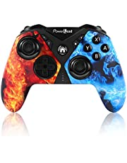 Pro Controller for Nintendo Switch, PowerLead Wireless Gaming Controller Six-axis Dual Vibration, Wireless Pro Controller for Nintendo Switch with Turbo Function/Programming Function, Controller Joystick Remote Gamepad Compatible with Nintendo Switch/Switch Lite/Android/Smart TV