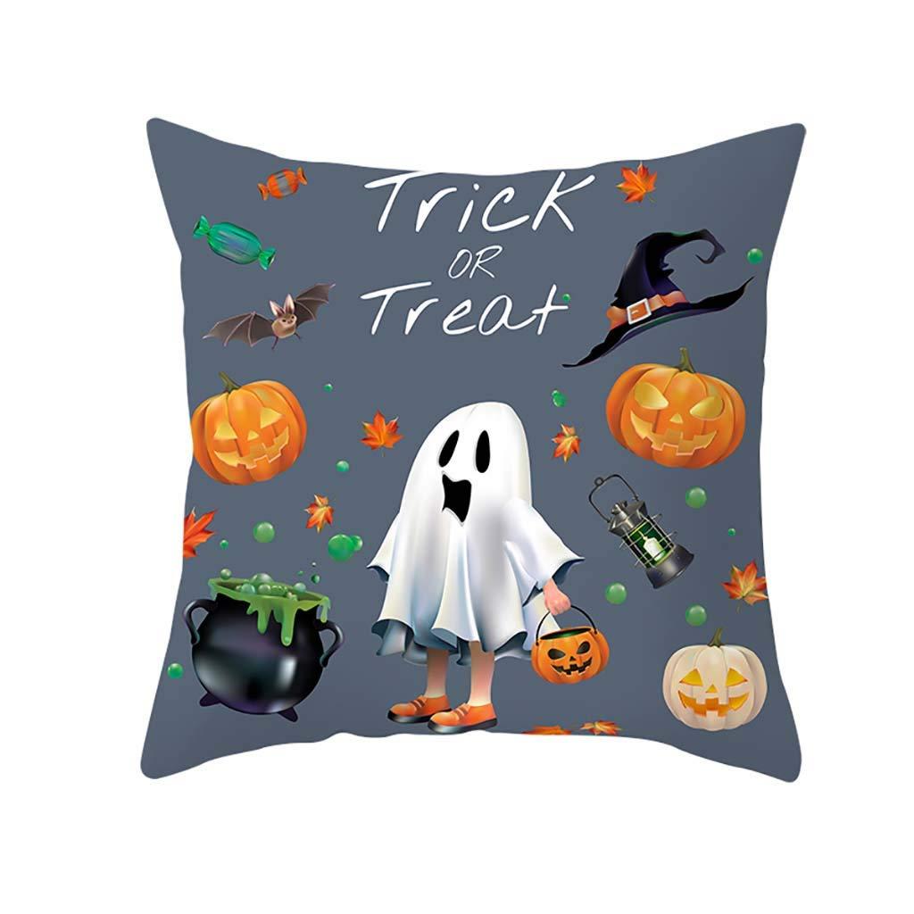 Lookhy Halloween Pumpkin Throw Pillow Cover Pillowcases Decorative Sofa Cushion Cover Durable Cotton Linen Throw Pillow Case Home Decor for Halloween 18X18 45x45cm