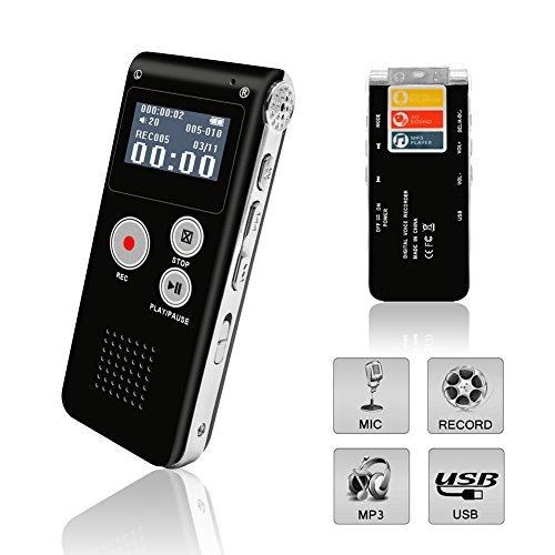 Digital Voice Recorder, Portable Recorder, Multifunctional R